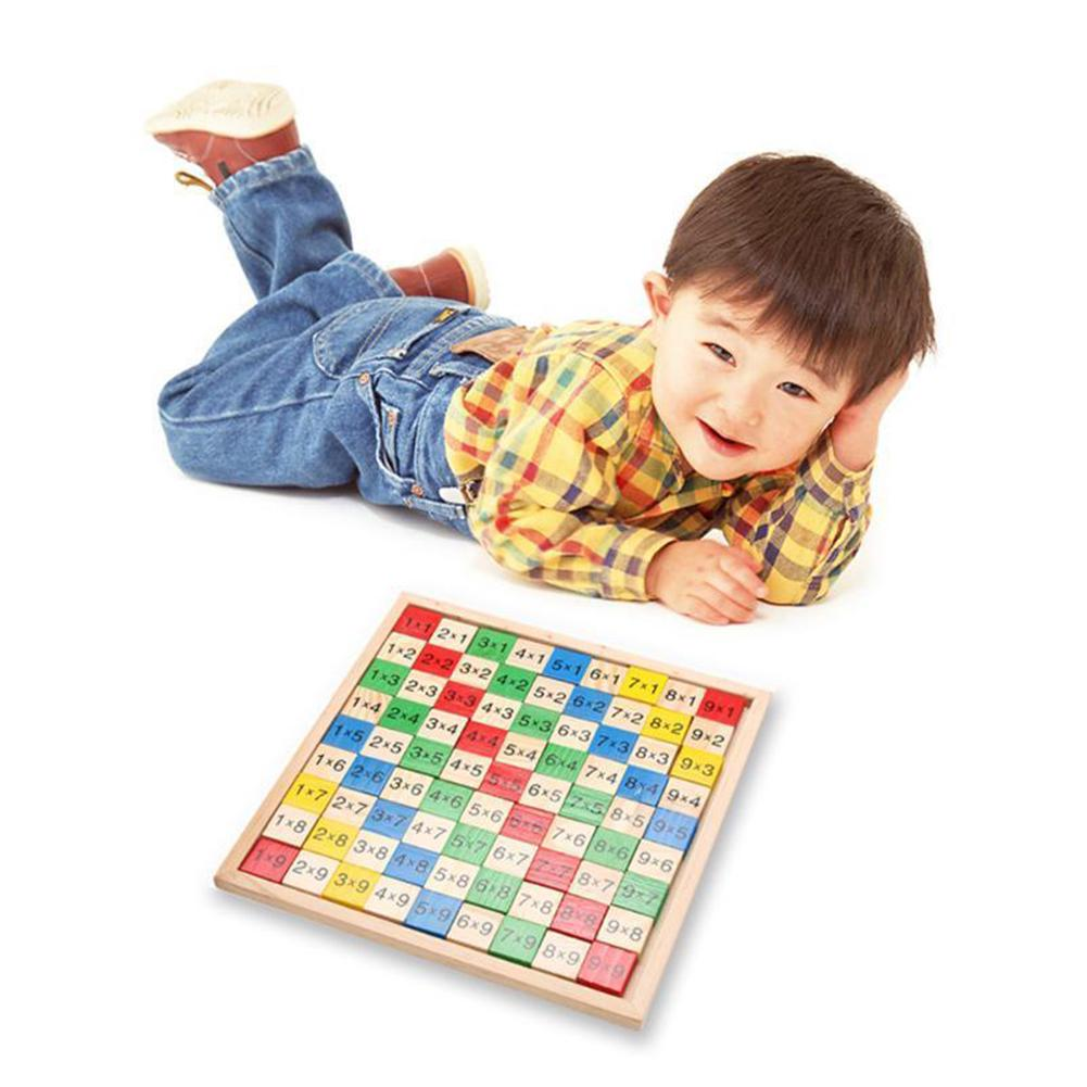 Educational Wooden Toys for Children Baby 99 Multiplication Table Math Arithmetic Teaching Aids Kids