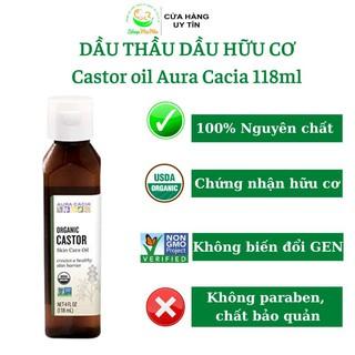 Dầu thầu dầu hữu cơ Aura Cacia castor oil 118ml.