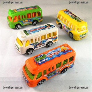 [Crown]Plastic School Bus Kids Toys American Student Pull Back Kids Gifts Toys [VN]