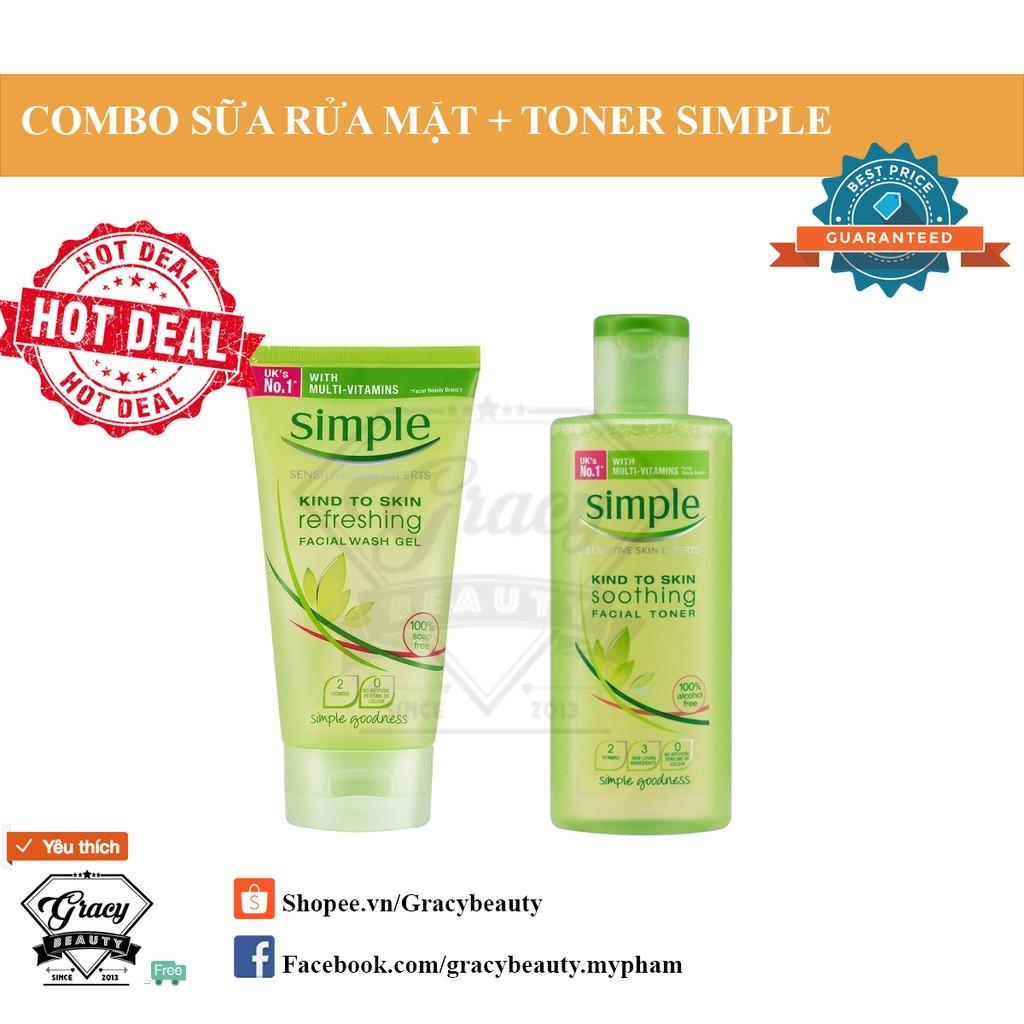 COMBO Sữa rửa mặt + Toner Simple - 2474854 , 170228617 , 322_170228617 , 415000 , COMBO-Sua-rua-mat-Toner-Simple-322_170228617 , shopee.vn , COMBO Sữa rửa mặt + Toner Simple