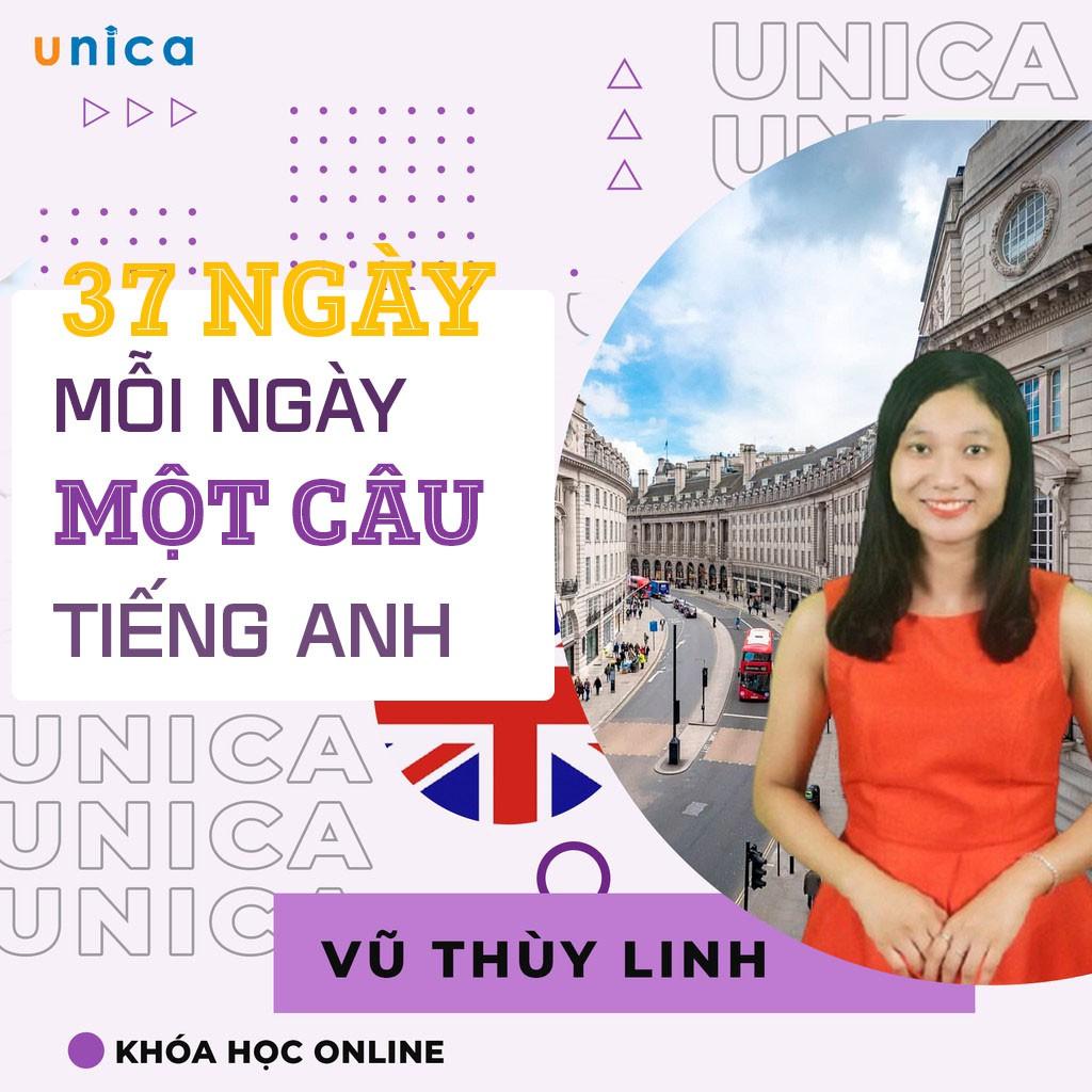 Toàn quốc- [Evoucher] FULL khóa học Tiếng Anh- 37 ngày - Mỗi ngày luyện một câu tiếng Anh- Mrs. Linh Vũ