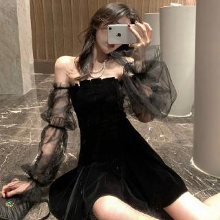 Đầm Nữ Tay Lỡ Cổ Tròn Xếp Ly Thời Trang Hàn