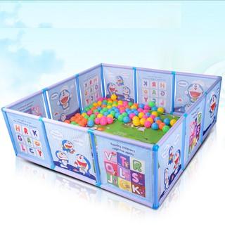 Quây bể bóng khung nhựa Doremon-combo bóng