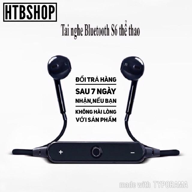 Tai Nghe Bluetooth Thể Thảo S6,Nghe Nhạc,Có Mic Gọi Điện