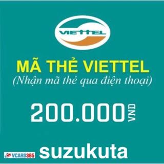 Mã thẻ viettel 200k
