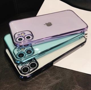 Ốp điện thoại viền bảo vệ camera cho Iphone 12 11 Pro Max Mini