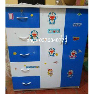 Tủ nhựa đài Loan cho bé mẫu 2 cánh 5 ngăn kéo
