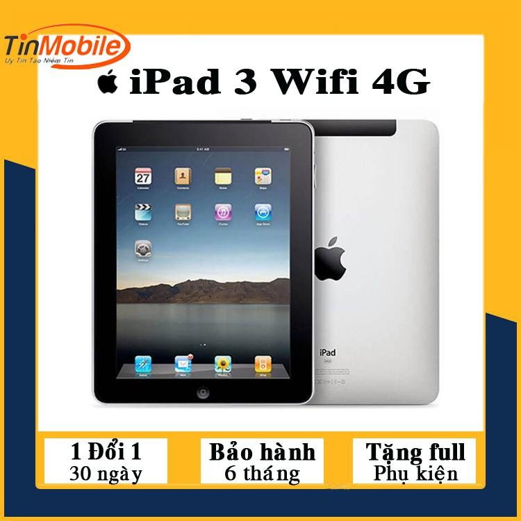 Máy Tính Bảng iPad 3 - 16/32/64Gb (Wifi + 3G) Zin Đẹp 99% - Màn Đẹp - Pin khoẻ - Loa to