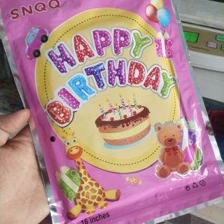 Bộ bóng sinh nhật chữ Happy Birthday cao 40cm !!!
