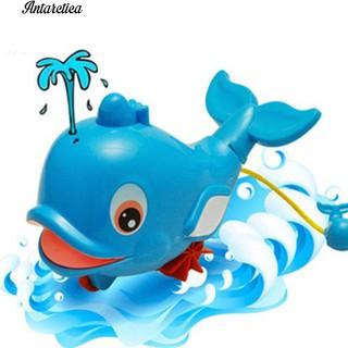 ♥♥♥ Bath Shower Clockwork Squirt Dolphin Bathtub Swimm Toy