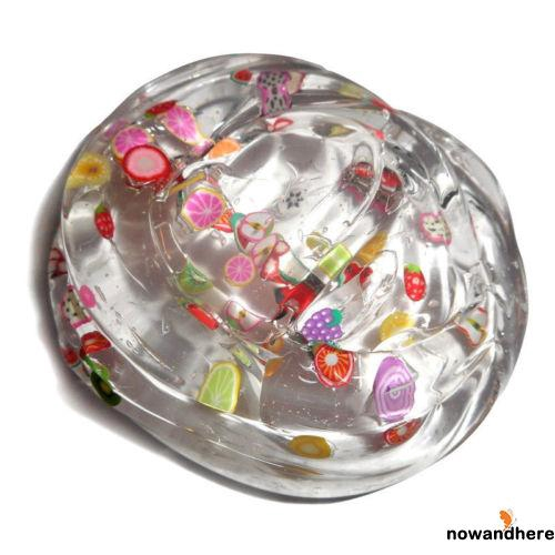 .EE-Clear Crystal Fruit Plasticine Clay Jelly Slime Mud Children Intelligent