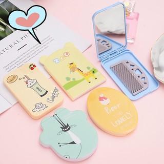 Bộ Gương kèm Lược nhựa mini dễ Thương Hàn Quốc