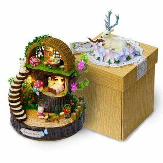 Kèm nhạc – Mô hình nhà gỗ búp bê dollhouse DIY – Y005 Fantasy Forest