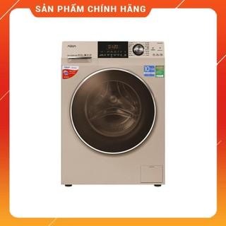 [ FREE SHIP KHU VỰC HÀ NỘI ] Máy giặt Aqua cửa ngang 10 kg màu vàng kim AQD-DD1000A.N