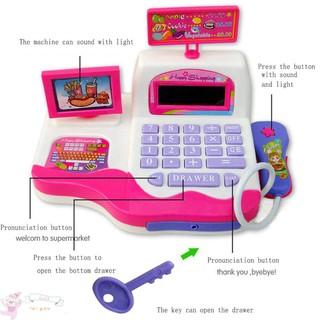 ✥JFY✥Kids Simulation Supermarket Cash Register Music Learning Electronic Toys
