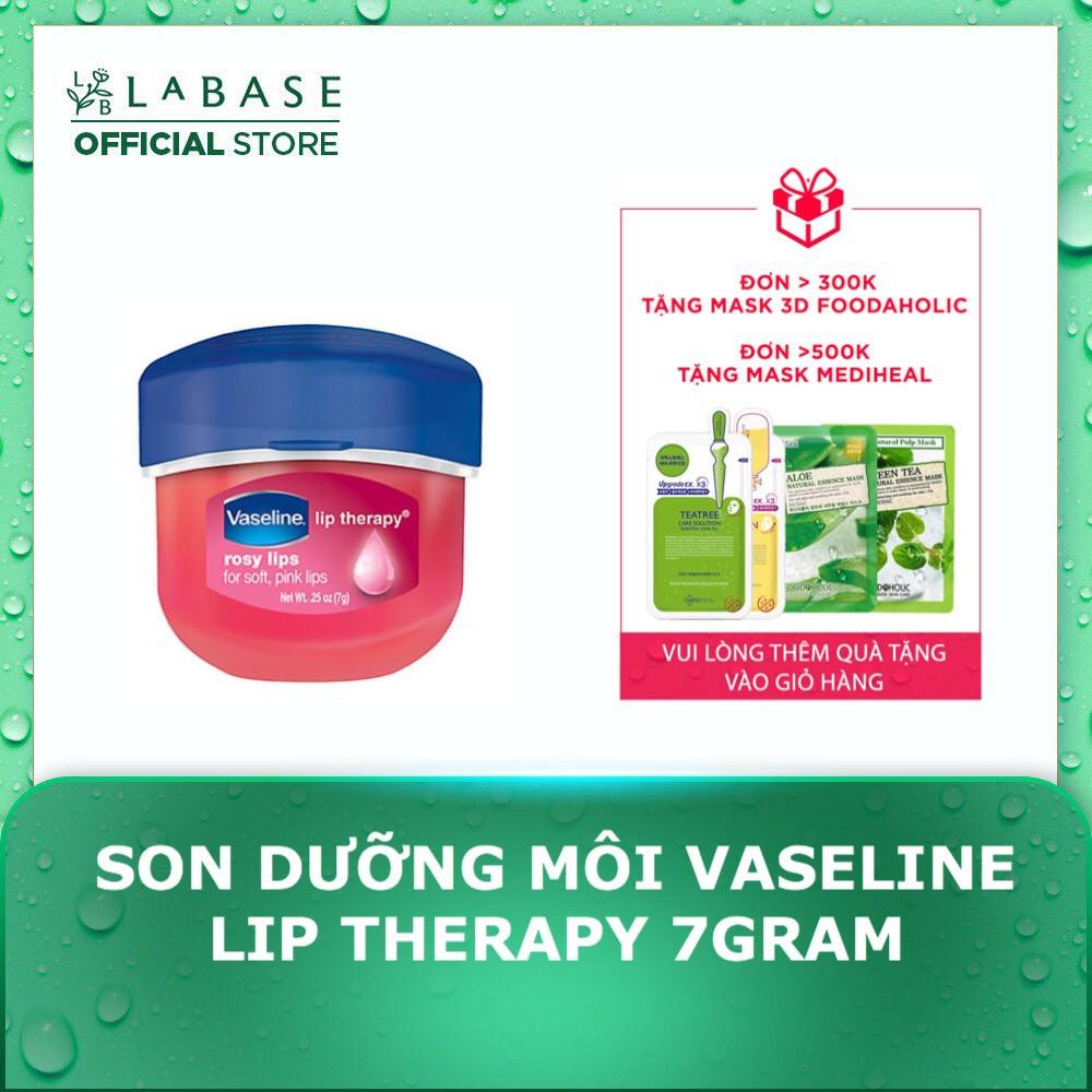 Son dưỡng môi Vaseline mềm mịn chống khô nứt, thâm môi dạng hũ 7gram