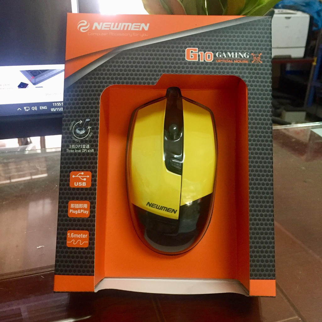 Chuột Mouse Newmen chuyên game - G10 usb chính hãng. Vi Tính Quốc Duy