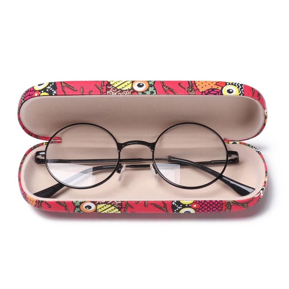 MIHAN1 Portable Hard Frame Cartoon Owl Eyeglass Pouch Waterproof Animal Glasses Case