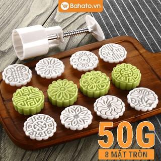 Khuôn bánh trung thu 50g 8 mặt tròn truyền thống
