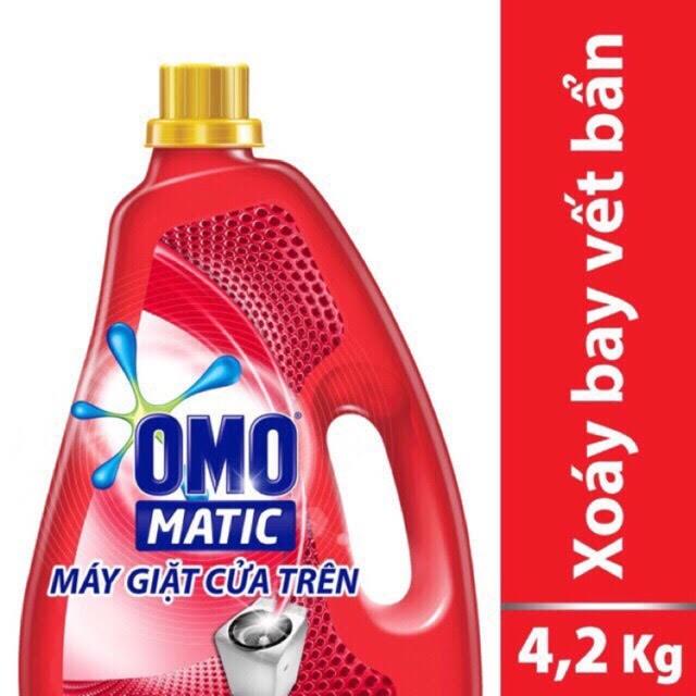 Nước giặt Omo cửa trên can 4L-4,2Kg