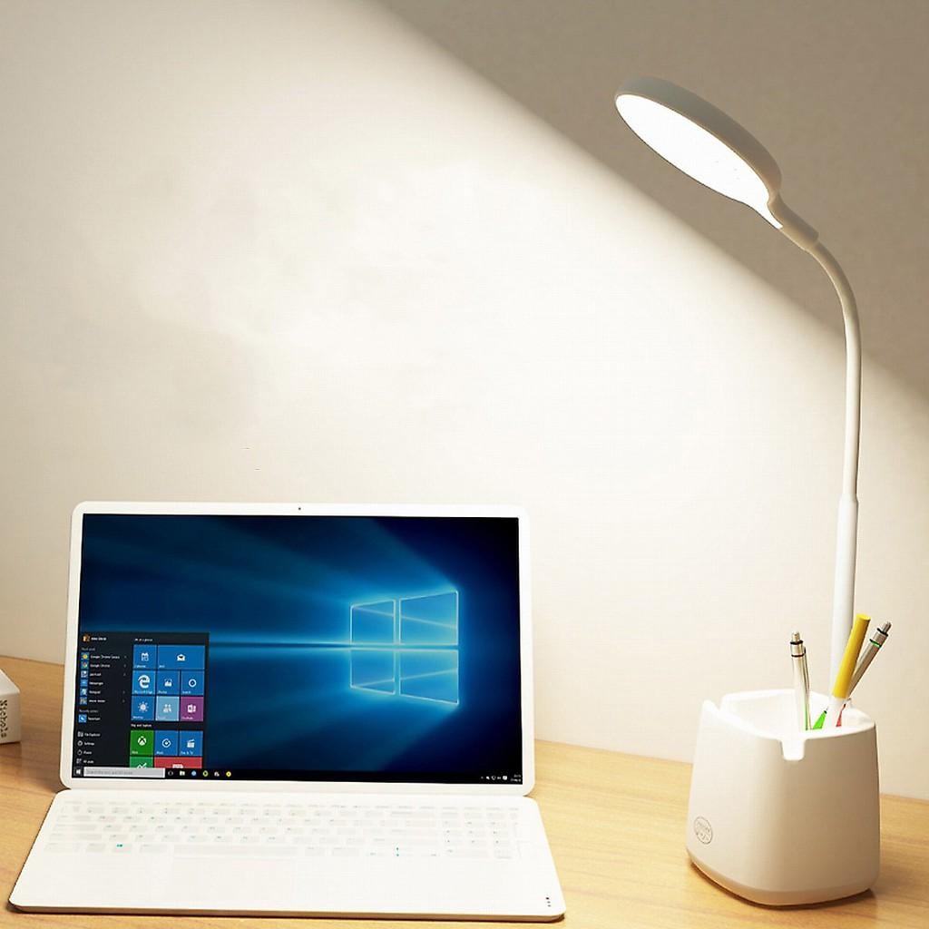 Đèn bàn học LED chống cận có hộc đựng bút – 3 chế độ sáng, nút bấm cảm ứng  siêu nhạy