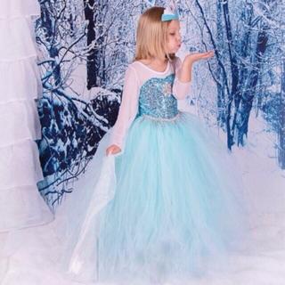 V754 VÁY công chúa ELSA cho bé có clip và ảnh thật phía sau