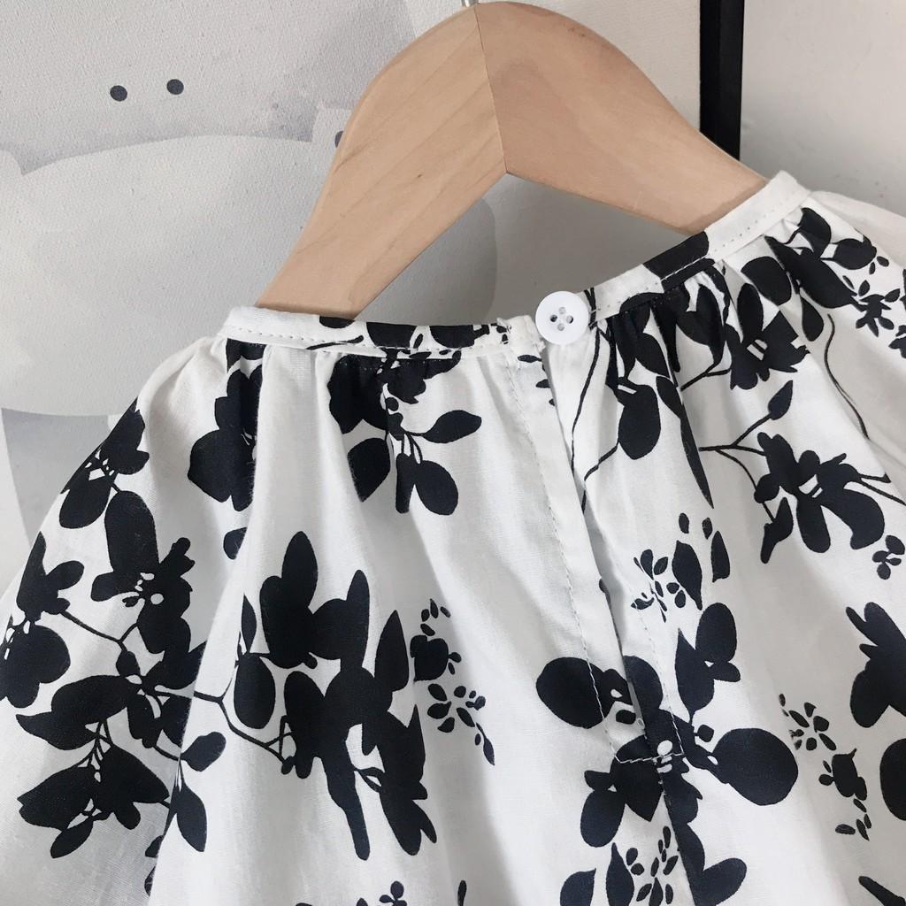 2021 summer girls short-sleeved flower dress cotton lace bow princess dress fashion kids