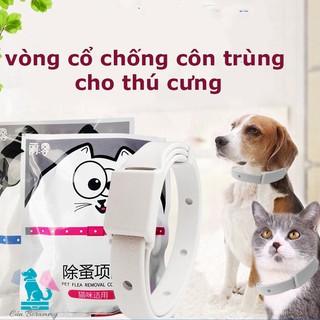 Vòng cổ chống ve rận bọ chét chó mèo - Vòng cổ chống bọ chấy trên da lông cún, mèo - không thấm nước 1