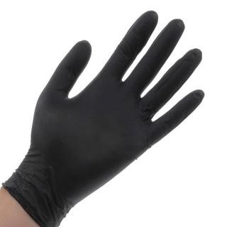 Găng tay cao su Nitrile không bột màu đen hộp 100 cái thumbnail