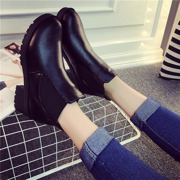 Giày Boot da nữ gót vuông kiểu mới hàng nhập - LN665