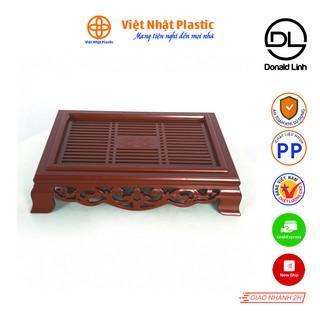 Khay trà vuông giả gỗ truyền thống Việt Nhật Plastic 5685 thumbnail