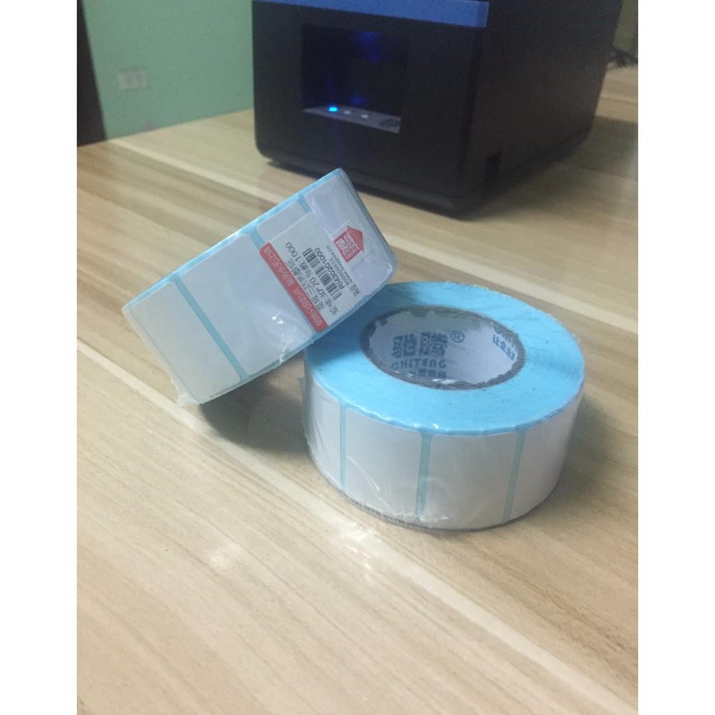 Tem mã vạch in nhiệt không cần dùng mực cỡ 2x1 3x2 4x3 4x6 4x7 5x3, giấy nhãn decal thông tin dán lên sản phẩm