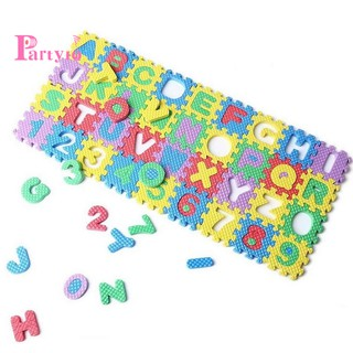 36Pcs Colorful Mini Size Alphabet A-Z Letters Numeral Foam Mat