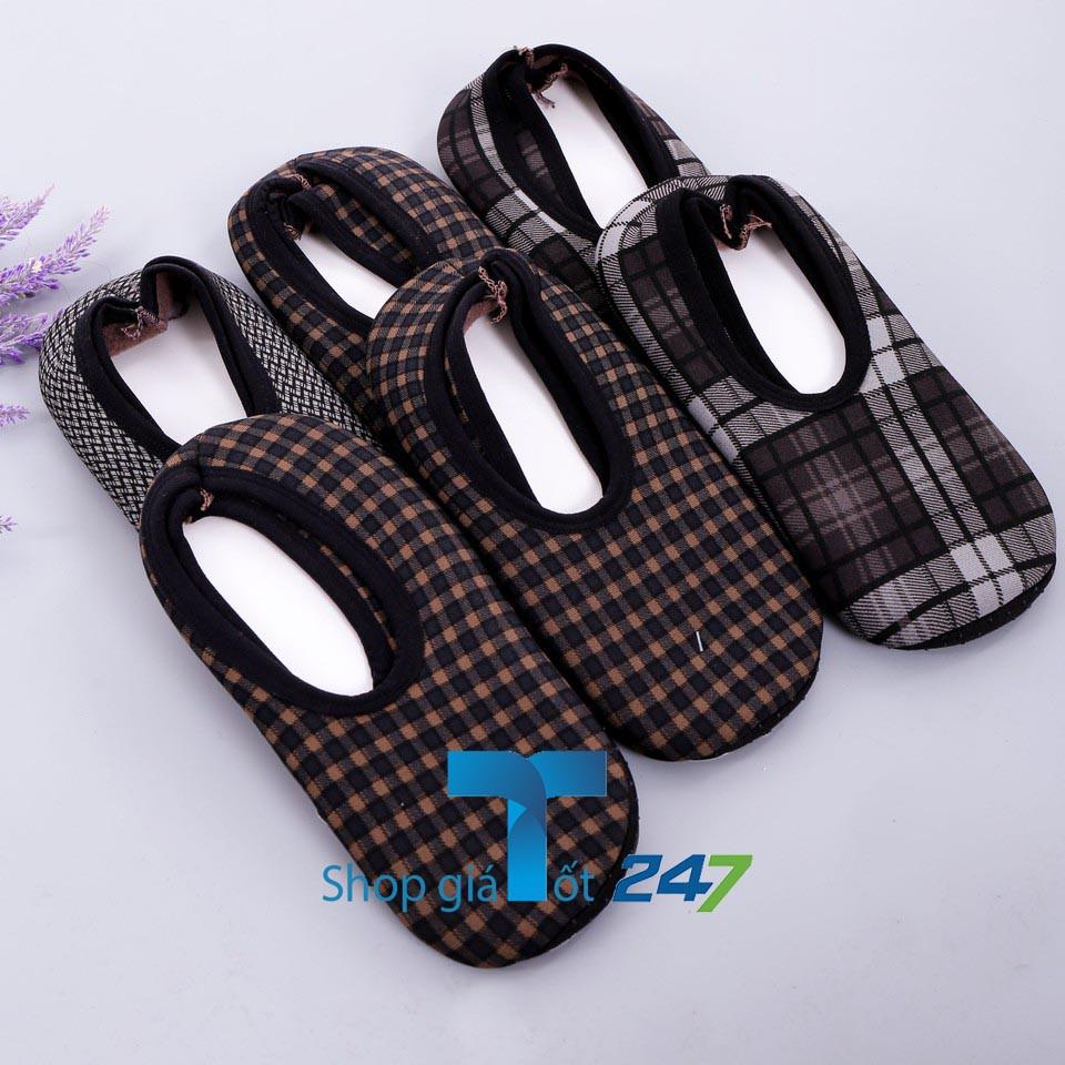 Bộ 6 Đôi Giày Hài Chống Trơn Trượt Nỉ Cho Nam