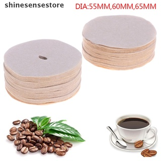 shines 100Pcs Coffee Maker Wood Pulp Replacement Filters Paper For Aeropress Coffee 。