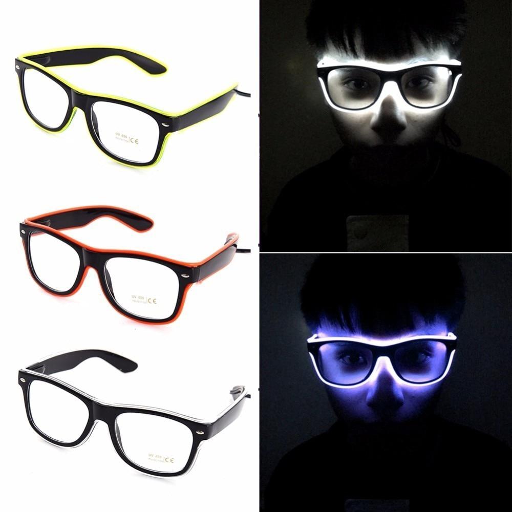 Mắt Kính Có Đèn Led 7 Màu Kiểu Dáng Cổ Điển