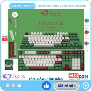 [Chính hãng] Bàn phím cơ AKKO 3087 3108 V2 Matcha Red Bean Akko Switch V2 (Blue Orange Pink) - Mai Hoàng phân phối thumbnail