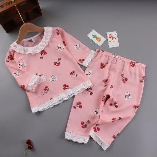Bộ Đồ Ngủ Pijama Vải Cotton Phong Cách Công Chúa Cho Bé Gái