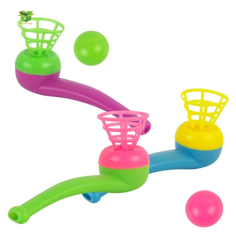 Baby Kids Tobacco Pipe Blowing Ball Nostalgia Toys Educational Toy