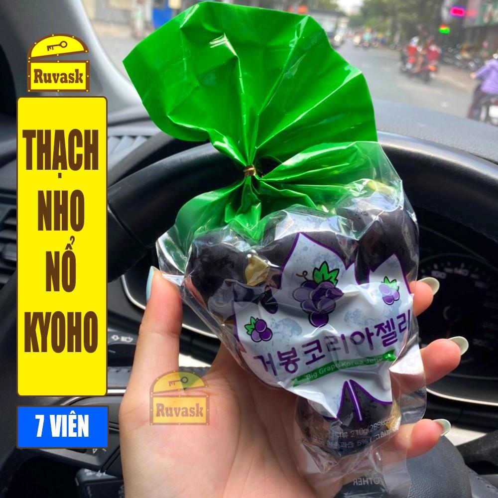 Thạch Nổ Nho Đen Kyoho 7 Viên Kyoho Grape Jelly - Thạch Nho Kyoho Nổ Đen - Thạch Nổ Cao Cấp Siêu Hot