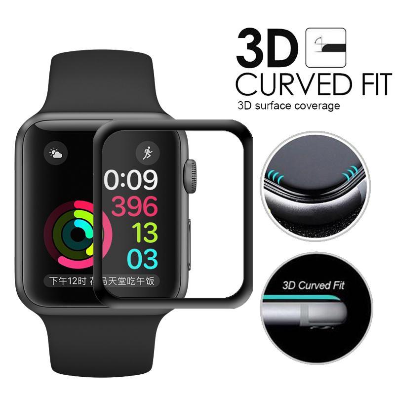 Kính cường lực toàn màn hình cho đồng hồ thông minh Apple Watch Series 5 4 3 2 1