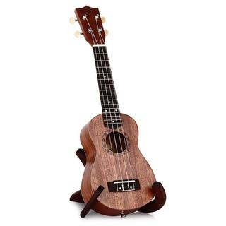 21″ Ukulele Soprano Hawaiian 4 String Guitar Sapele 15-Fret Concert Brown
