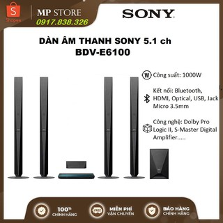 Dàn âm thanh Sony BDV - E6100 5.1Ch Công suất 1000W Hàng chính hãng thumbnail