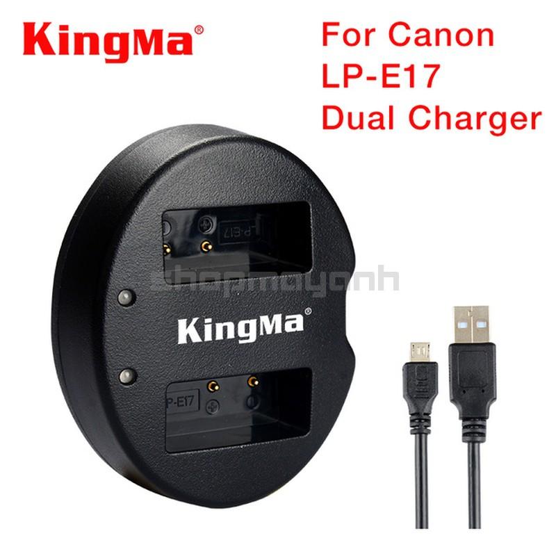 Sạc đôi LP-E17 cho CANON 750D/ 760D/ EOS M3…hãng KingMa