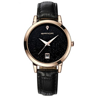Đồng hồ nữ dây da cao cấp Sanda P194