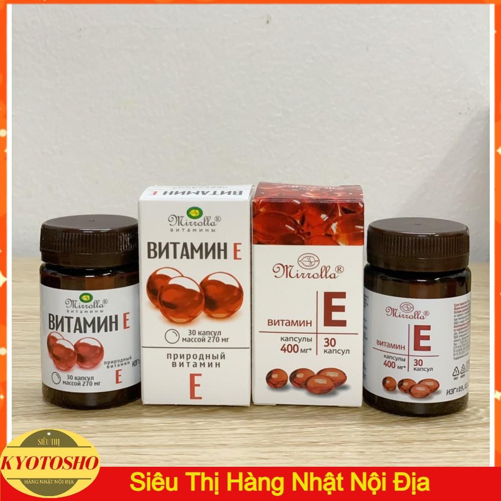 Vitamin E (tổng hợp các E đỏ mới nhất chính hãng của Nga)
