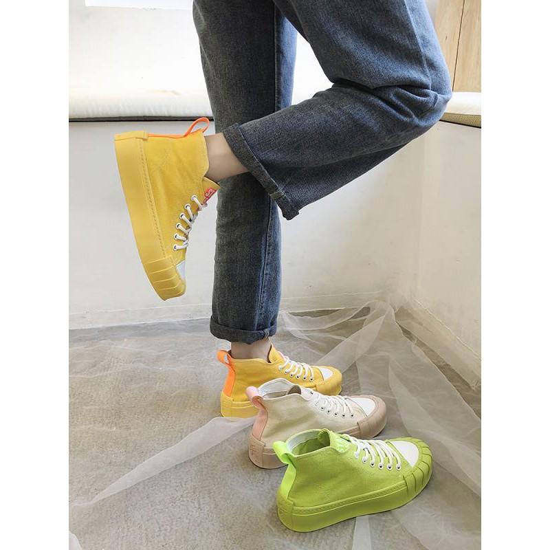 giày lười canvas đế dày thời trang nữ tính