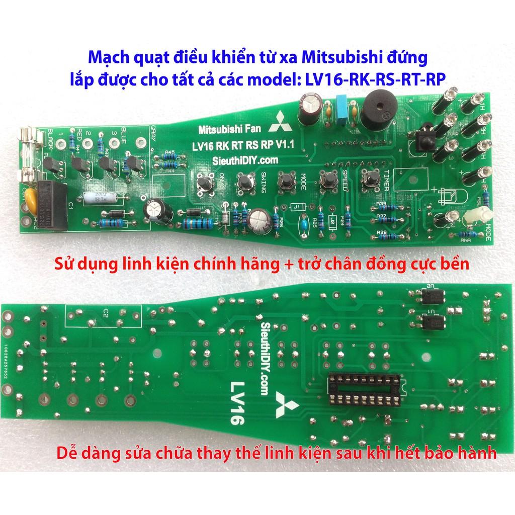 Mạch quạt điều khiển Mitsubishi đứng LV16 model RK-RS-RT-RP và RC