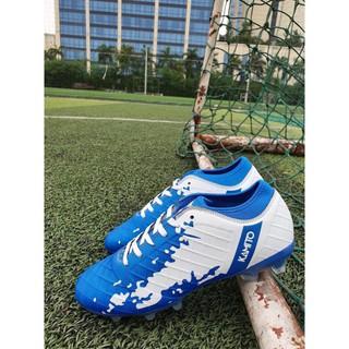SẴN [HÀNG MỚI VỀ] Giày đá bóng Kamito Qh19 chính hãng (màu xanh trắng) bán chạy HOT :)) .New . ..