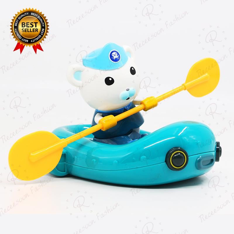 Octonauts Bath Toys For Baby Clockwork Boat Ship Rowing Bathroom Shower Toy Kids Gifts